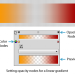 Gradient with opacity nodes